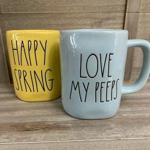 Rae Dunn Happy Spring & Love My Peeps Mugs